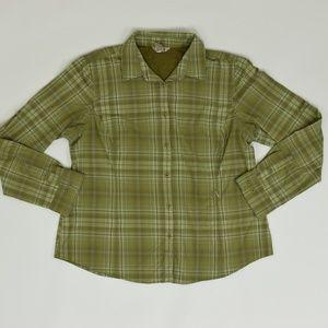 Duluth Trading Regular XL Green   Blouse Nylon sol